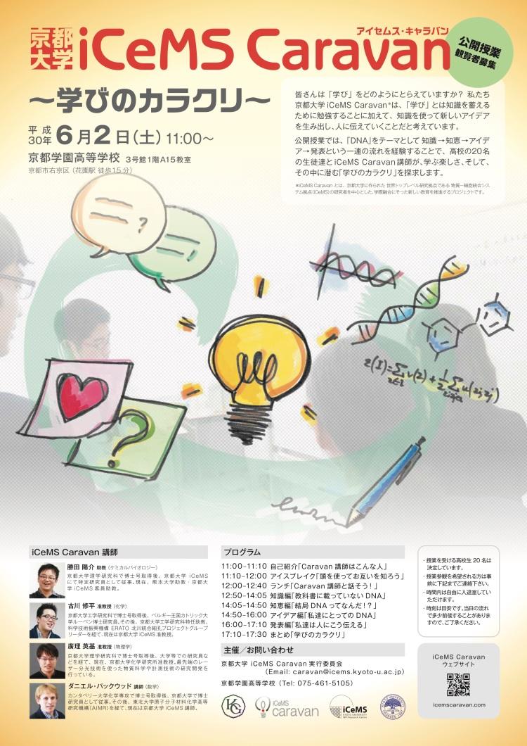 #7 iCeMS caravan 京都学園ポスター